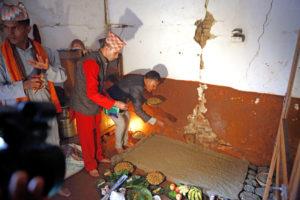 Ghatasthapana (sowing Jamara)