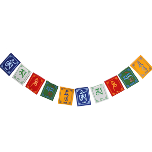 Om Mani Padme Hum Tibetan Prayer Flags