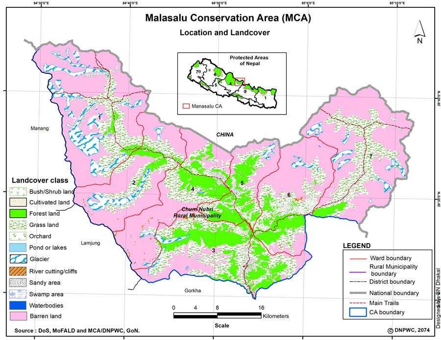 Manaslu Conservation Area Map
