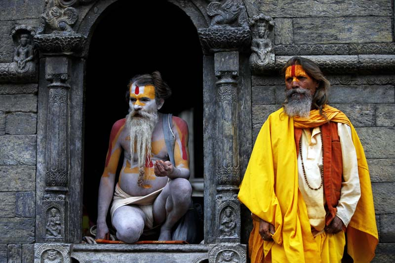 Sadhus at Pashupatinath Temple
